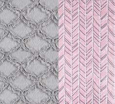 Minky Adult Blanket Pink Gray Blanket Minky Throw Twin Size