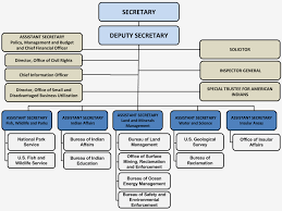 Organizational Chart Of The Interior Department Chief