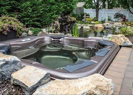 in the ground hot tubs backyard ideas