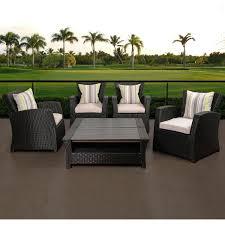 atlantic staffordshire 4 person resin wicker patio conversation set black ultimate patio