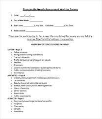 Assessment Example sample community needs assessment template