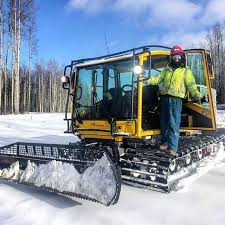 sometimes i drive this snow machine around yea it is extremely cool they call it a trooper it has a stereo in it and sometimes i fantasise that i am
