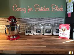 how to care for butcher block hannah husband