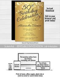Elegant Birthday Invitation Templates Mozo