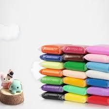 3d multicolor modeling clay 100g bag soft polymer clay diy educational toys for children fluffy slime