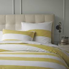 yellow and white striped duvet cover stripe duvet cover shams white citron modern