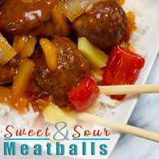 Sweet and Sour Meatballs   Devour Dinner Sweet and Sour Meatballs