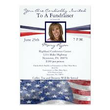 political fundraiser invite political fundraiser invitation with photo zazzle com