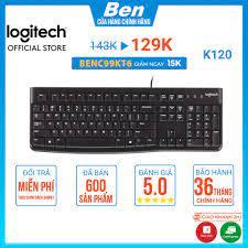 Bàn phím máy tính Logitech K120 - Bàn phím máy tính có dây Usb Logitech -  BH 36T chính hãng 139,000đ