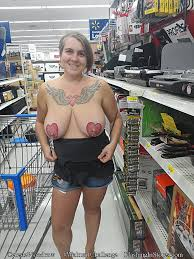 Girlfriends and Wives Flashing in Walmart and Exposing Themselves