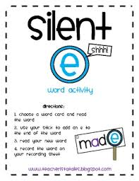 "Image result for English ""Silent Final e"""