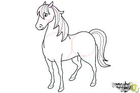 horses drawings in pencil step by step. Wonderful Drawings How To Draw A Horse Easy  Step 9 And Horses Drawings In Pencil By