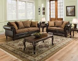 Wood Living Room Set San Marino Traditional Living Room Furniture Set W Wood Trim Amp