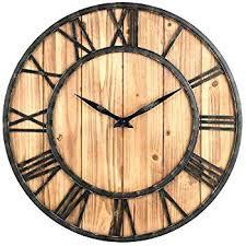 large rustic clock rustic wall clocks large large rustic wall clock amazing inch farmhouse unique inside