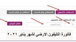 Ar- فاتورة التليفون الارضي لشهر يناير 2021 من المصرية للاتصالات بالاسم  والرقم - إقرأ نيوز