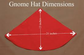 ilration of dimensions for a diy gnome hat