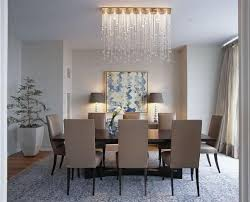 dining room lamp. Dining Room With Waterfall Crystal Lamp H
