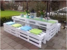pallet furniture patio. Diy Patio With White Pallet Table And Bench Seat Feat Cuhions Furniture .