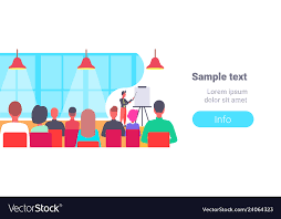 Flip Chart Presentation Sample Businessman Pointing Flip Chart Conference Meeting