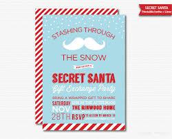 printable christmas invitations secret santa invitation gift exchange party printable holiday invite