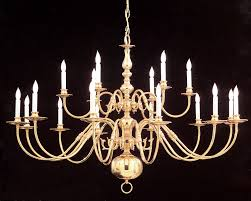 colonial 18 light polished brass chandelier