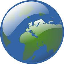 Earth Globe Clip Art At Clker Com Vector Clip Art Online Royalty
