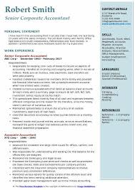 Resume Sample For Accounting Jobs Corporate Accountant Resume Samples Qwikresume