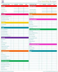 Budget Worksheets Excel Free Printable Budget Worksheets For Household Binder 2019