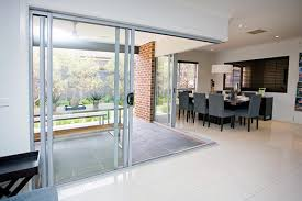 aluminium stacking sliding doors view