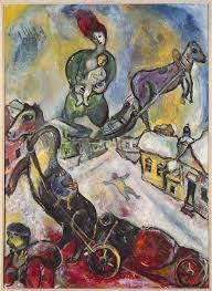 a surprisingly dark side of marc chagall heads to jewish museum