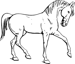 Printable Coloring Pages Horses - Cecilymae