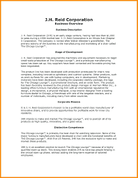 Company Description Template Template Business Description Template Company Overview Example 7