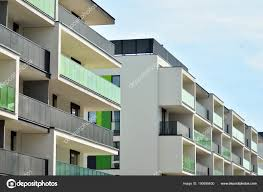 Detail New Modern Apartment Building Stock Photo Grand