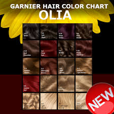 Olia Colour Chart Olia Color Shine Belle Color Hair Color Chart