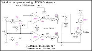 Op Amp Comparator Window Comparator Circuits Tutorial