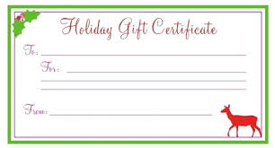 free printable christmas gift certificate templates free printable gift cards spa gift certificate template free