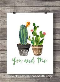 cacti you and me valentine cacti watercolor cactus wedding typography hand lettering decor printable cactus wall art house plant cactus on cactus wall art nz with cacti you and me valentine cacti watercolor cactus wedding