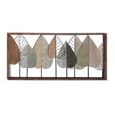 natural stylized leaf rectangular wall