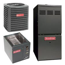 goodman ac unit. 3 ton goodman 16 seer ducted central ac with upflow downflow cased coil and 80% afue duel stage gas furnace | heatandcool.com ac unit l