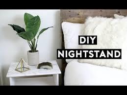 diy marble nightstand affordable room decor simple ikea hack