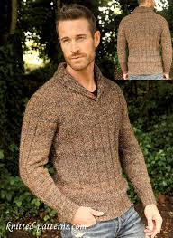 Men's Sweater Patterns Interesting Men's Jumper Free Knitting Pattern