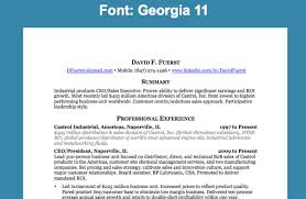 Professional Resume Fonts Free Resume Templates 2018
