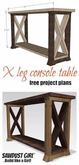 Diy entry table plans Sofa Table Box Leg Console Table Easy Plan And Tutorial For This Super Inexpensive Diy Pinterest Box Leg Console Table Lake House