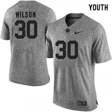 Youth Mack Wilson Jersey 30 Alabama Crimson Tide Football Grey