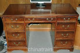 antique writing desk leather top antique vintage leather top knee hole desk chair desks for
