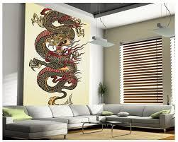 Us 1275 49 Offbenutzerdefinierte 3d Kunst Tapeten Dragon Tattoo Asiatischen Wandbild Für Wohnzimmer Schlafzimmer Esszimmer Hintergrund Wand Papel