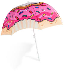 beach umbrella.  Umbrella Frosted Donut Beach Umbrella On
