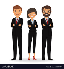 Business People In Business Suits