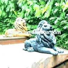 resin garden statues canada statue lion large animal che marble resin garden statues