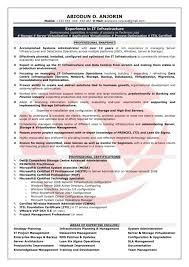 Linux System Administrator Resume Format Doc Docx Systems Resumes